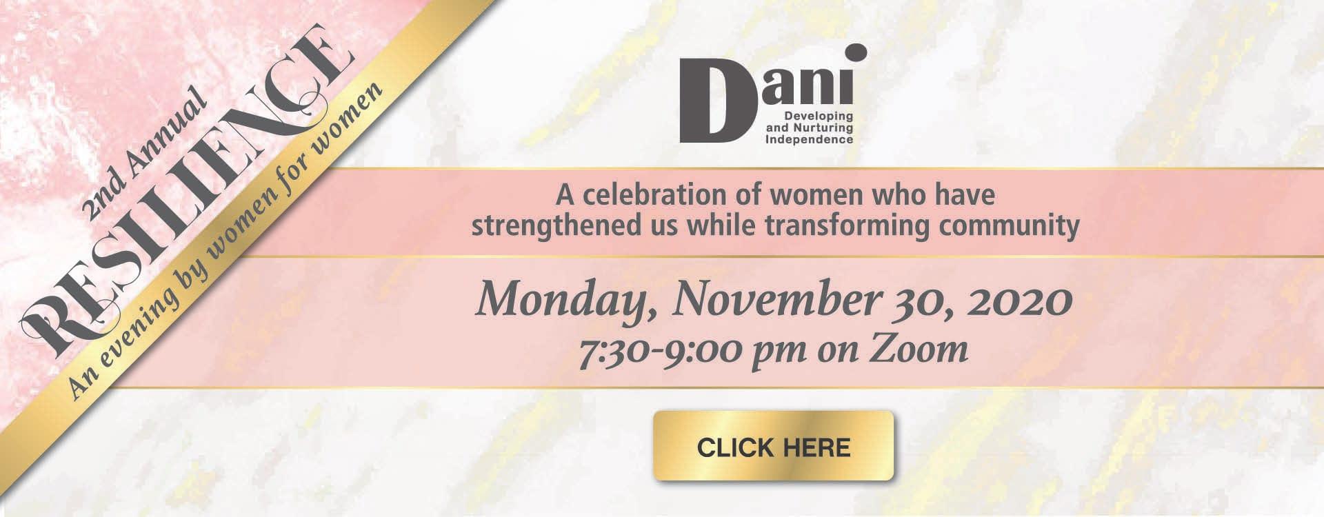 2nd Annual Resilience Event | DANI Toronto